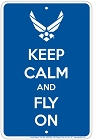 Air Force Keep Calm Sm. Parking Sign