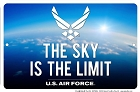 Air Force - Sky's the Limit Sm. Parking Sign