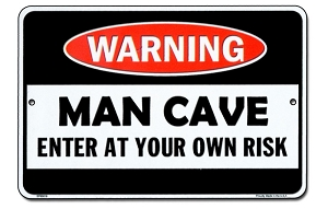 Man Cave Sm. Parking Sign