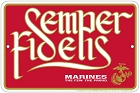 Marines  Fidelis Sm. Parking Sign