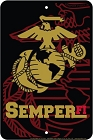 Marine Semper Sm. Parking Sign