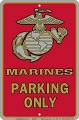 Marine Sm. Parking Sign