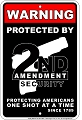 2nd Amendment Security Sm. Parking Sign