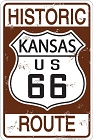 Route 66 Historic KS Sm. Parking Sign