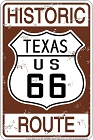 Historic 66 TX Sm. Parking Sign