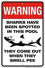 Sharks Spotted Sm. Parking Sign