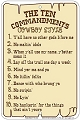 Western 10 Commandments Sm. Parking Sign