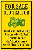 Old Tractor - Sm. Parking Sign
