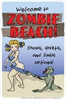 Zombie Beach Sm. Parking Sign