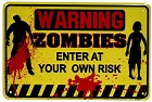 Warning Zombies Sm. Parking Sign