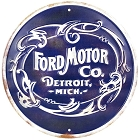 Ford Motor Retro Round Sign