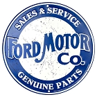 Ford Motor Weathered Round Sign