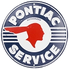 Pontiac Service Weathered Round Sign