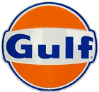 Gulf Die Cut Round Sign