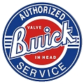 Buick Service Round Sign
