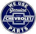 Chevy Genuine Parts Round Sign