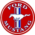 Ford Mustang Red Round Sign