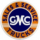 GMC Sales & Service Round Sign