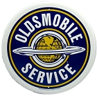 Oldsmobile Service Round Sign