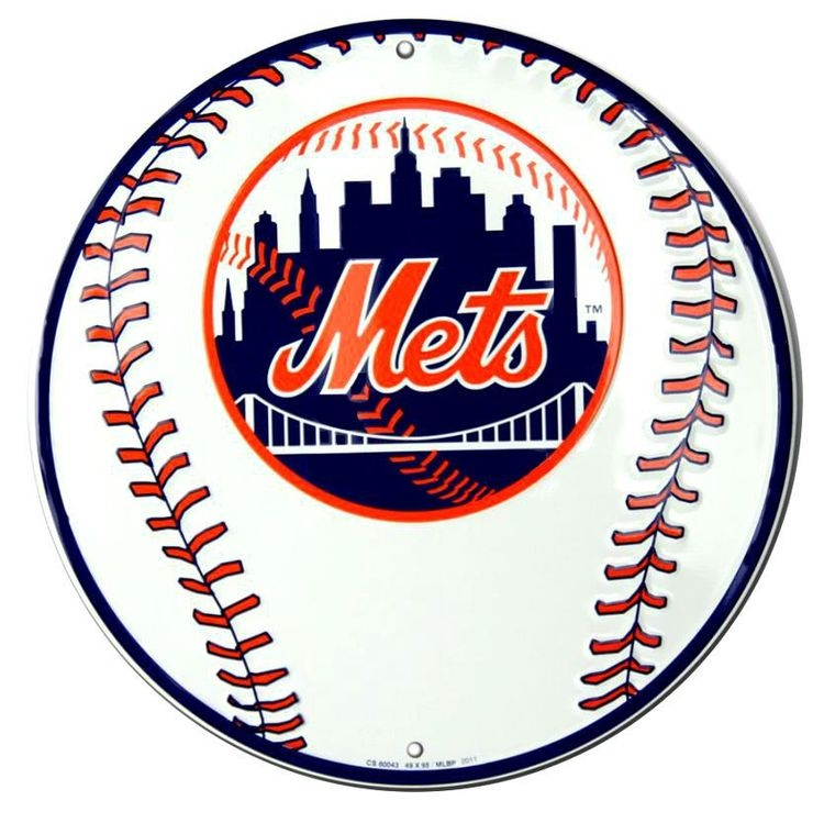New York Mets Round Sign