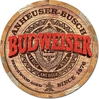 Budweiser Barrel Top Round Sign
