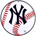 New York Yankees Logo Round Sign