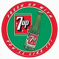 7 Up You'll Like It Round Sign