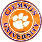 Clemson Tigers Retro Round Sign