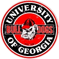 Georgia Bulldogs Round Sign
