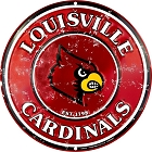 Louisville Cardinals Retro Round Sign