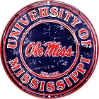 University of Mississippi Rebels  Retro Round Sign