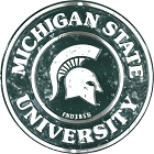 Michigan State Spartans Round Sign