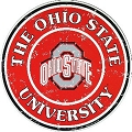 Ohio State Buckeyes Round Sign