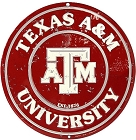 Texas A&M - Round Sign