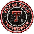 Texas Tech Red Raiders Round Sign