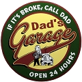 Dad's Garage Round Sign