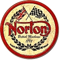 Norton Motorcycle Round Sign
