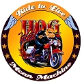 Ride To Live Hog Round Sign