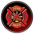 Fire Dept Round Sign