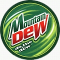 Mountain Dew Round Sign