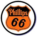 Phillips 66 Oil Logo Round Sign