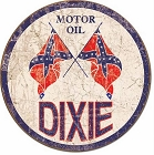 Oil - Dixie Oil Round Sign