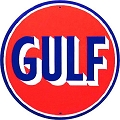 Gulf Gas Oil Round Sign