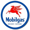 Mobilgas Pegasus Gas Oil Logo Round Sign