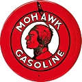 Mohawk Gasoline Oil Round Sign