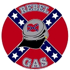 Oil - Rebel Gas Round Sign