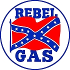 Rebel Oil Gas Round Sign