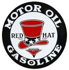 Red Hat Motor Oil Round Sign