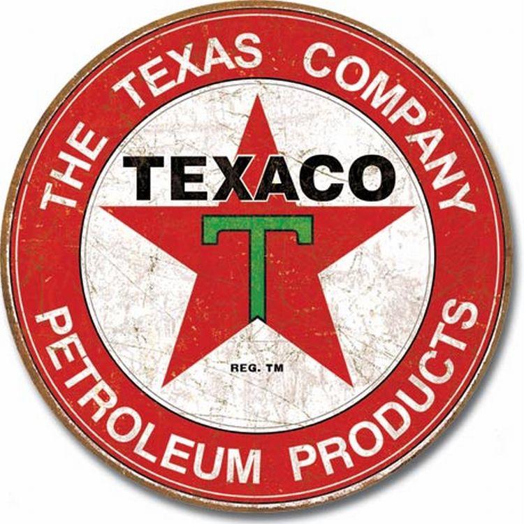 Oil - Texaco Station Round Sign