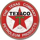 Oil - Texaco Station Logo Round Sign
